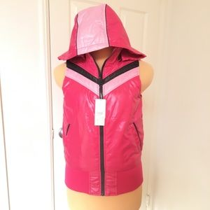 Pink Chevron Winter Vest